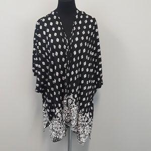 Angie BOHO open front cardigan plus size 1X
